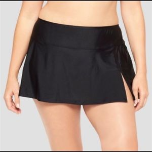 AVA & VIV Swim Skirt Black Swimsuit Sz 20W/22W